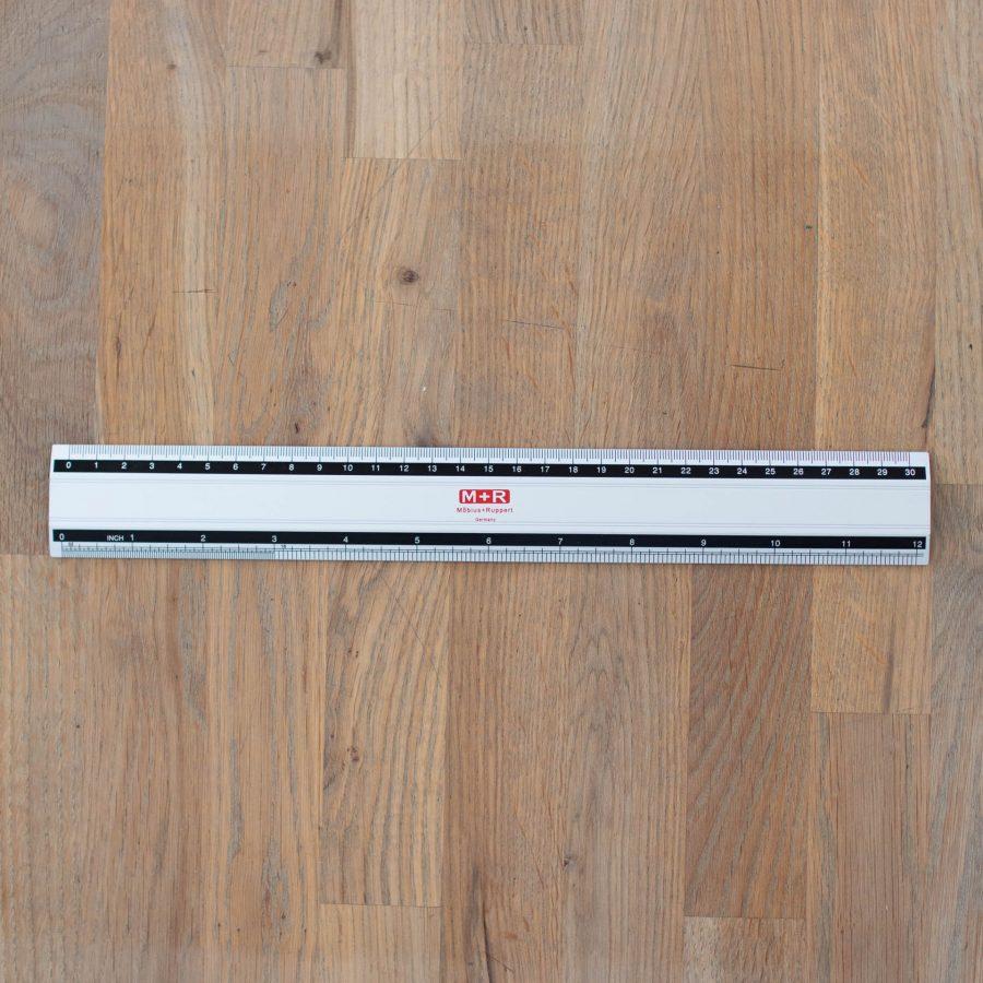 metalen liniaal 30 cm